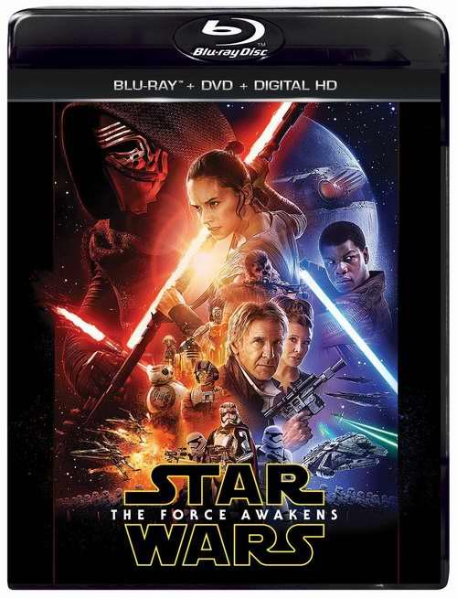 《Star Wars: The Force Awakens 星球大战7:原力觉醒》蓝光影碟+DVD+在线数字版6.1折 24.96元限时特卖!