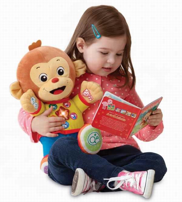 Vtech 儿童益智智能聊天学习阅读猴+5本书5.4折 18.89元限时特卖!仅限今日!