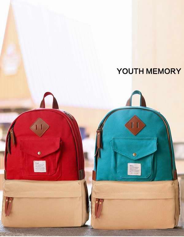 蓝红两款!Eshow 16.5寸时尚休闲帆布背包2.5折 9.99元限时特卖!