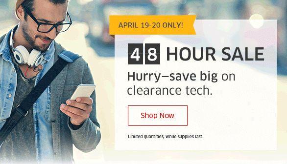 The Source 48小时限时清仓,精选129款笔记本电脑、平板电脑、电视、相机、游戏机、打印机、耳机、玩具、数码产品等3折起特卖!额外立减10-25元!