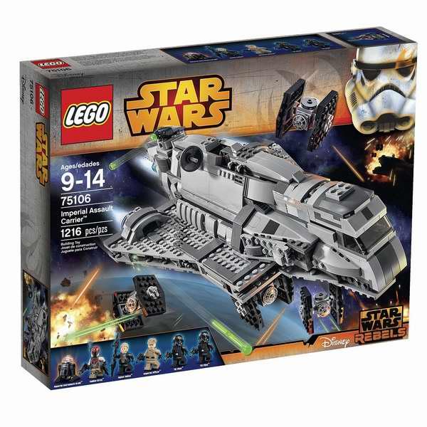 LEGO 乐高 75106 星球大战 帝国突击舰 1216pcs 积木套装100.99加元,原价 171加元,包邮