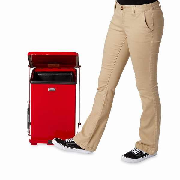 红白两色可选!Rubbermaid Commercial 7加仑脚踏式不锈钢垃圾桶2.4折 47.06-48.26元限时特卖并包邮!