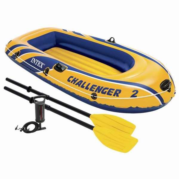 Intex Challenger 2 双人充气船+充气泵6.2折 41.14加元限时特卖并包邮!