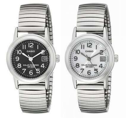 超低价光动能手表!黑白两色可选! Casio 卡西欧 LTP-S100E 女士光动能石英腕表2.3折 17.82元起清仓!