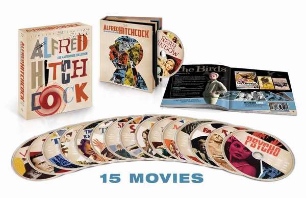 希区柯克 The Masterpiece Collection 15部经典电影合集蓝光影碟收藏版2.6折 89.99元限量特卖并包邮!仅限今日!