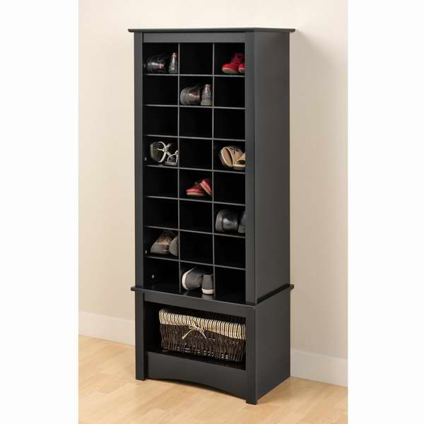 大降了!咖啡、黑色两色可选!Prepac 1.55米立式鞋柜2.4折 61.74-66.29元限时特卖并包邮!