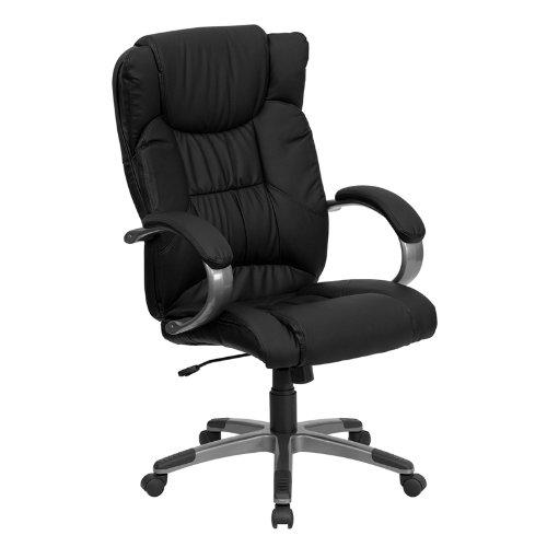 Flash Furniture BT-9088-BK-GG 高靠背真皮办公椅3折 152.29元限时特卖并包邮!