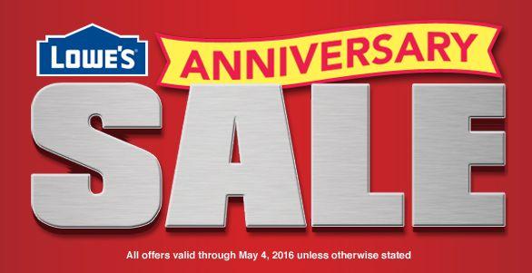 本季最大折扣!Lowe's周年庆7日大促销!全场大小家电、电动工具、庭院工具、装修耗材等海量货品特价销售!特卖品汇总详情见内!