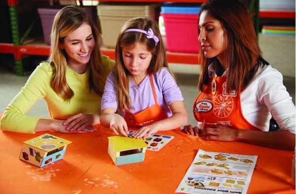 Home Depot 5月14日免费儿童手工课,制作愤怒的小鸟鸟屋,5月另有3个家庭装修免费课程