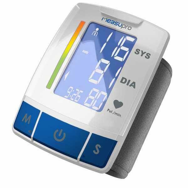 MeasuPro 腕式自动电子血压计3.5折 20.99元限量特卖并包邮!可监测心率不齐!