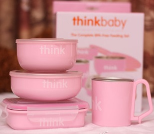 Thinkbaby 粉色儿童餐具 48.6元特卖,原价 57.01元,包邮