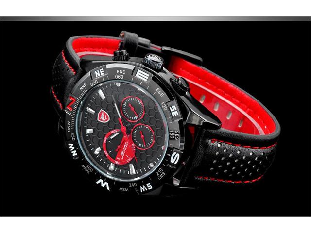 创意概念个性腕表!Shark SH080男士时尚运动石英腕表 41.29元特卖,原价 102.91元,包邮
