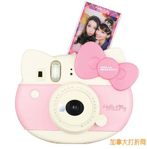Fujifilm  粉色富士拍立得相机(含10张相纸)特价69.95元,原价129.99元,包邮