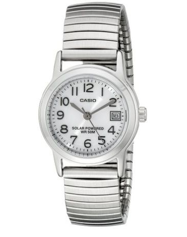 超低价光动能手表!Casio 卡西欧  LTP-S100E-7BVCF 女士光动能石英腕表2.4折 18.94元清仓特卖!