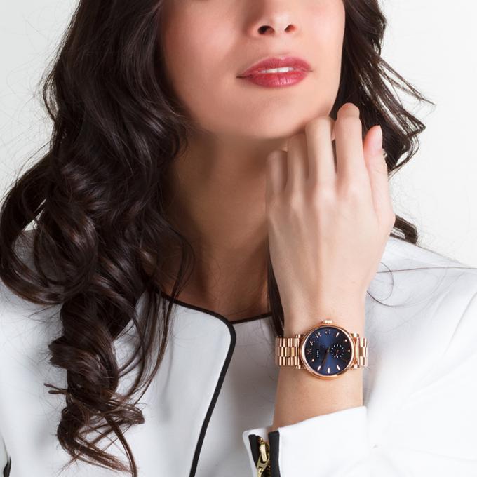 时尚大方!Marc Jacobs玛亚科布 MBM3330玫瑰金腕表 187元,原价247.5元,包邮