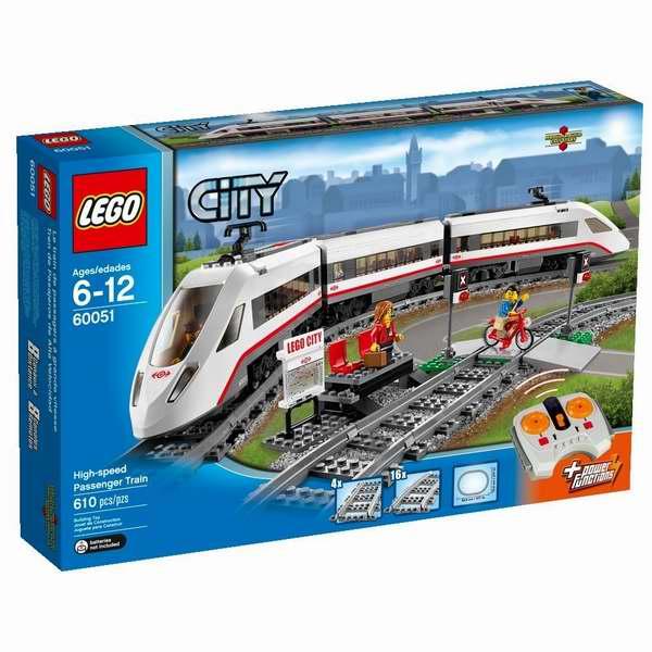 LEGO 乐高 60051 城市系列电动遥控高速列车积木套装 129.99加元包邮!