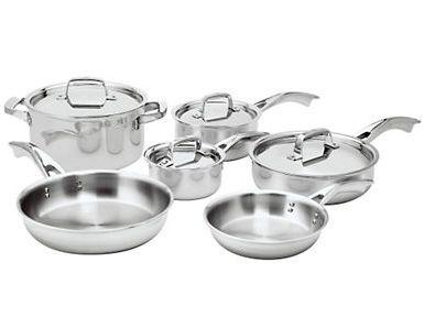 ZWILLING J.A.HENCKELS 双立人 Truclad 不锈钢锅具10件套2.2折 288.99加元限时特卖并包邮!