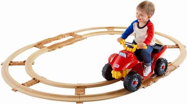 Fisher-Price 费雪 Kawasaki Lil' Quad 四轮儿童电动车带轨道套装5.9折 106.99元限时特卖并包邮!