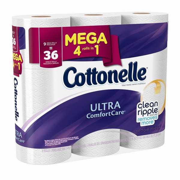 历史最低价!Cottonelle Mega 9卷超软卫生纸3.8折 5.68-5.98加元!