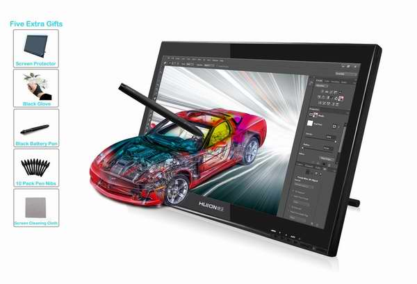 HUION 绘王 GT-190 19寸大师级专业数位屏/手绘屏/绘画屏 449.65加元限量特卖并包邮!