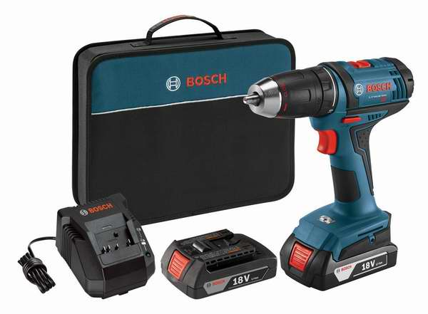 Bosch 博世 DDB181-02 18伏无绳两速Drill/Driver电钻双锂电套装 89元限时特卖并包邮!