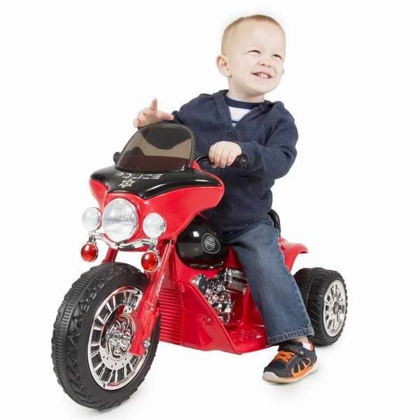 Rockin' Rollers 儿童迷你三轮警用电动摩托车5.1折 73.25元限时特卖并包邮!