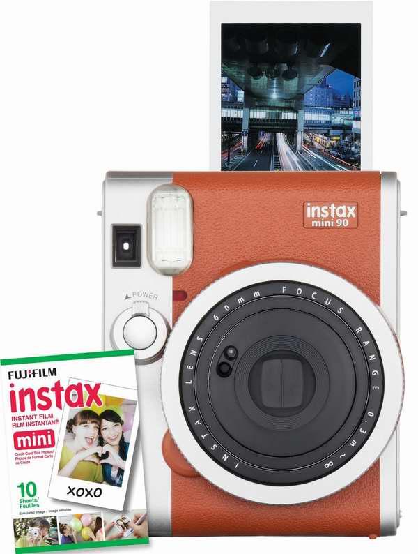 售价大降,历史最低价!经典复古,潮人必备!Fujifilm instax mini 90高规格拍立得相机,送10张相纸 6折119.99元限时特卖并包邮!