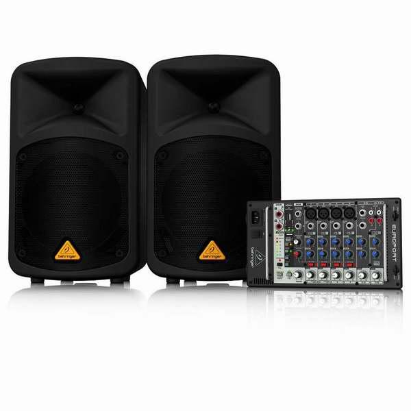 德国 Behringer EPS500MP3 500瓦便携式音响PA混音系统6.3折 539.99元限量特卖并包邮!