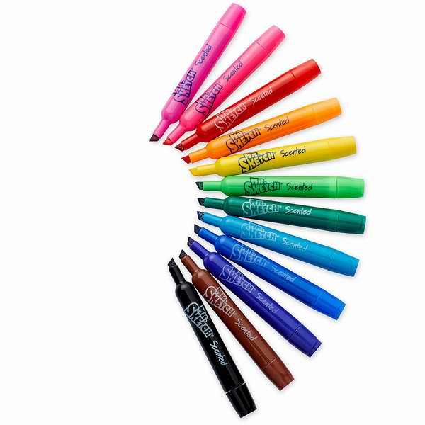 Mr. Sketch 1904150 12色水果香味水性记号笔/马克笔4.8折 7.98元限时特卖!