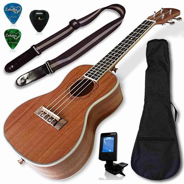Lohanu 乌克丽丽四弦琴 夏威夷小吉他套装 5.7折 119.99加元,原价 209.99加元