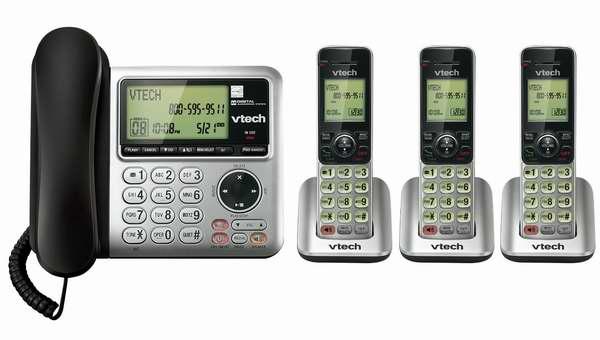 Vtech 伟易达 DECT CS6649-3 子母机一拖三数字无绳电话套装7折 69.99元限时特卖并包邮!