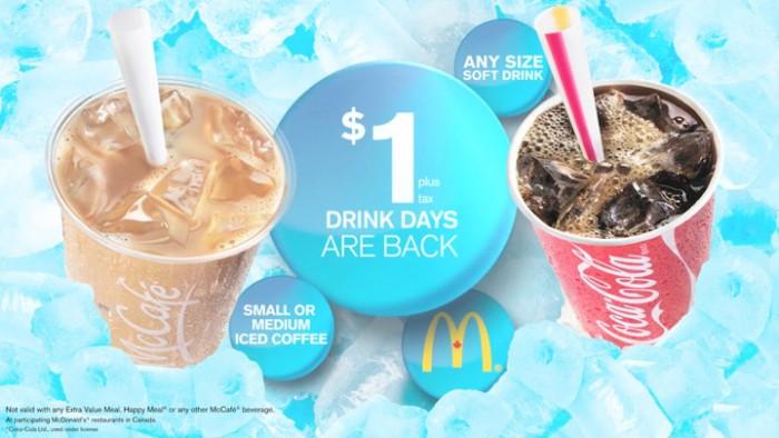 McDonald's 麦当劳 夏日冷饮仅售一元!5月8日起开卖!