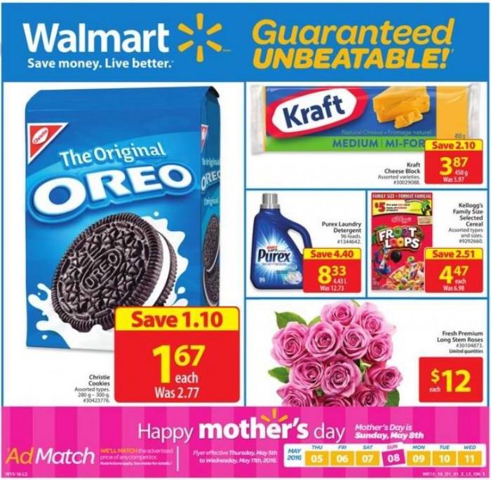 Walmart超市本周(2015.5.5-2015.5.11)打折海报