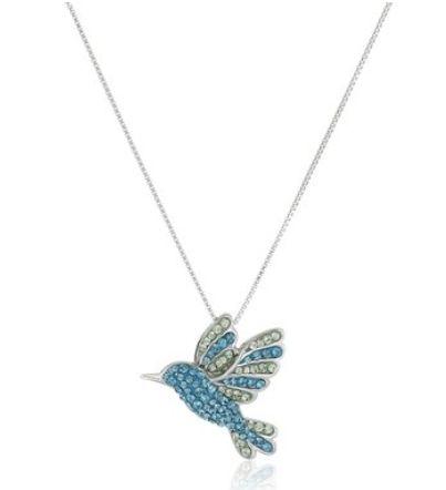 Amazon Collection 施华洛世奇元素水晶元素蜂鸟吊坠纯银项链 47元特卖,原价144.44元,包邮