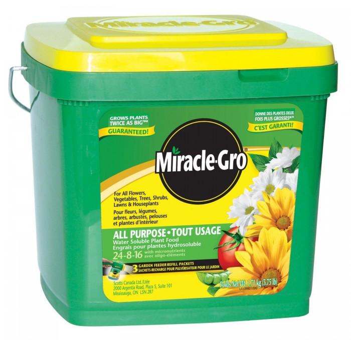 Miracle-Gro 24-8-16水溶性复合肥料10元特卖,原价15.49元