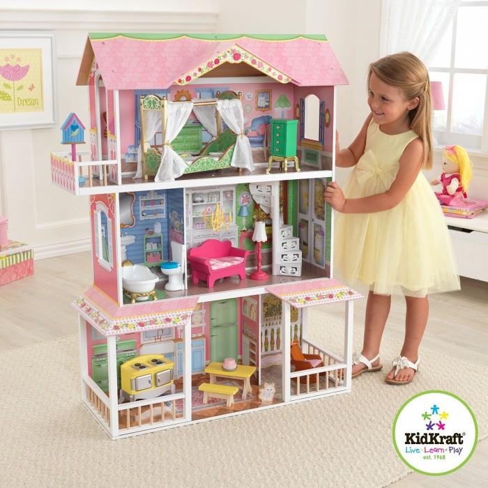 小公主至爱,KidKraft Savannah 可爱娃娃屋 124.99元特卖,原价294.32元,包邮