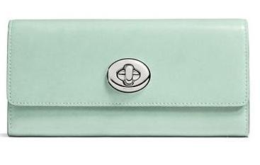 COACH Turnlock Slim 信封钱包 135元特卖(两种颜色可选),原价 225元,包邮