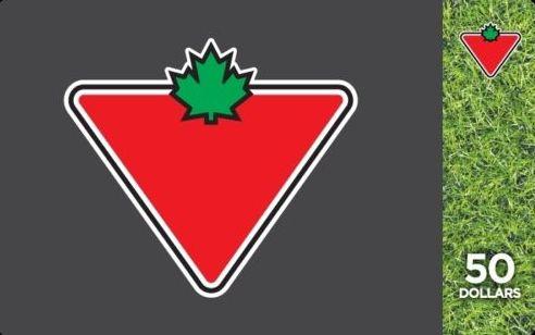 Ebay.ca网店促销,买两张Canadian Tire 礼品卡100元立减20元!