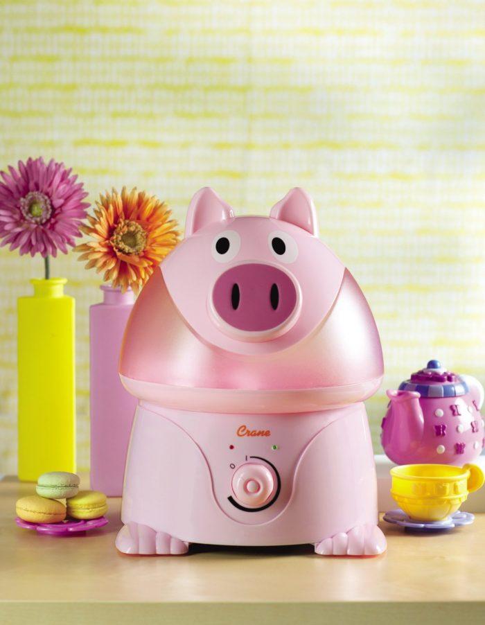 Crane 超声波 粉色猪猪 造型加湿器 45.95元特卖,原价 69.99元,另一款小猪造型 49.98元