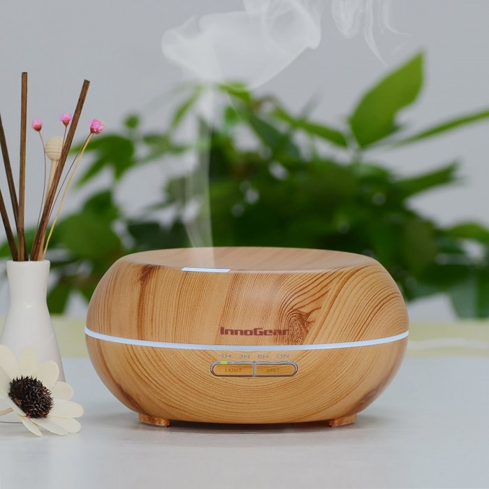 InnoGear® 200ml 木纹香薰/精油超声波加湿器 32.79元,原价 68.99元,包邮