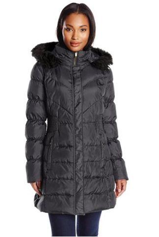 Via Spiga 女士带帽防寒服 34.95元特卖,美国亚马逊同款售价280美元,包邮!