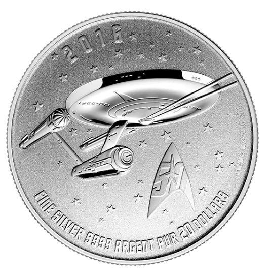 皇家铸币厂面值20元 Star Trek 星际迷航50周年纪念币20元特卖并包邮!