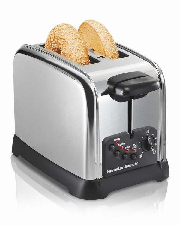 历史新低!Hamilton Beach 22790C 经典款不锈钢镀铬烤面包机4.2折 19.99加元包邮!