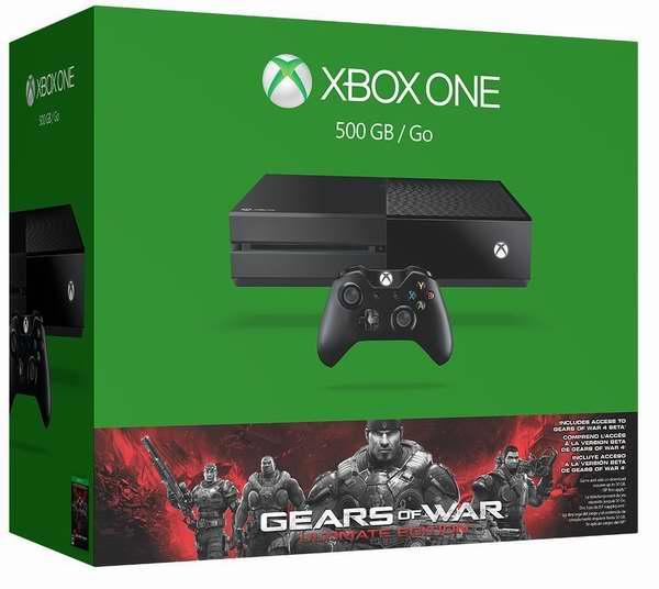 历史最低价!最畅销款 Xbox One 500GB 家庭娱乐游戏机+《战争机器终极版》套装 299.96元限时特卖并包邮!