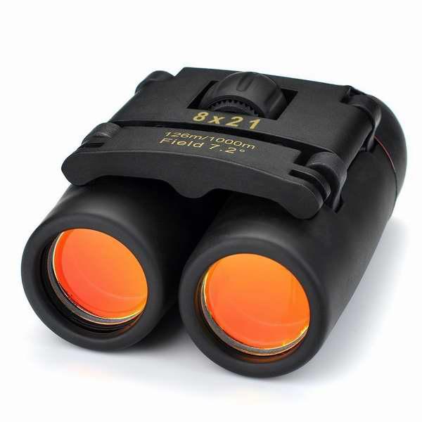 VicTsing 8 x 21 变焦日夜两用红膜双筒望远镜8.1折 15.29元限时特卖!