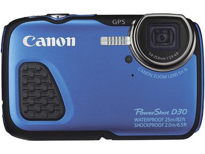深潜25米还带GPS!Canon 佳能 PowerShot D30 12.1MP 户外三防数码相机6.1折 214.99元限时特卖并包邮!