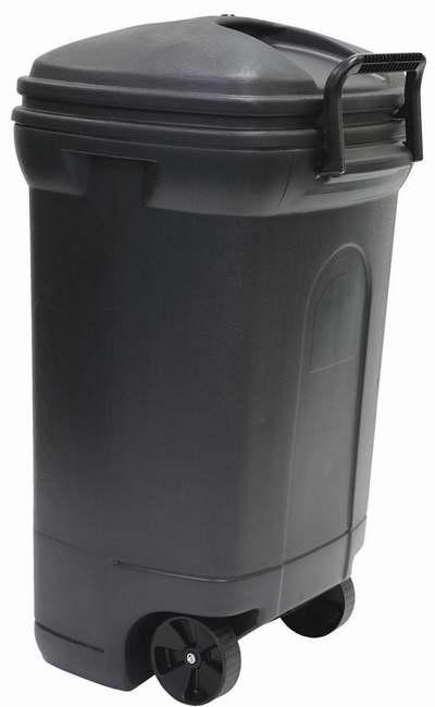 历史最低价!United Solutions TB0010 34加仑黑色户外带盖垃圾桶/储物桶2.6折 23.98加元!
