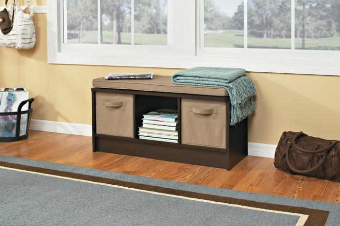 ClosetMaid 1570 带坐垫收纳长凳5折 63.99元限时特卖并包邮!