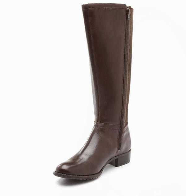 Hush Puppies Lindy Chamber 女式真皮时尚马靴2.7折 62.96元限时清仓!黑棕两色可选!
