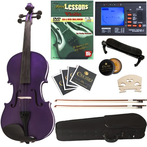 Cecilio CVN-Purple 全尺寸实木小提琴+调谐器+课本套装4.1折 102.24元限时特卖并包邮!